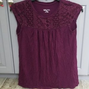 Merona purple blouse